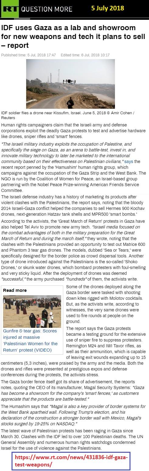 https://www.rt.com/news/431836-idf-gaza-test-weapons/