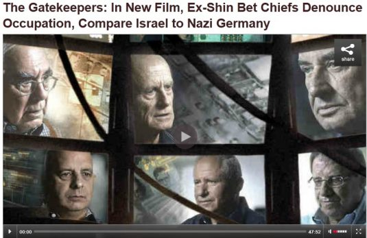 http://www.democracynow.org/2013/1/29/the_gatekeepers_in_new_film_ex#.UQf8XvB8aRA.email