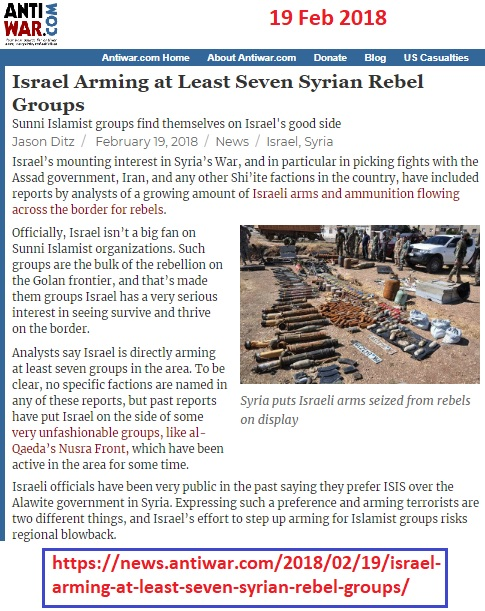 https://news.antiwar.com/2018/02/19/israel-arming-at-least-seven-syrian-rebel-groups/