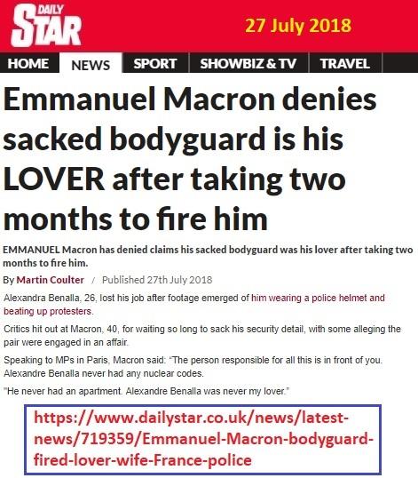 https://www.dailystar.co.uk/news/latest-news/719359/Emmanuel-Macron-bodyguard-fired-lover-wife-France-police