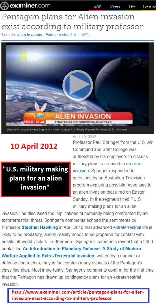 http://www.examiner.com/article/pentagon-plans-for-alien-invasion-exist-according-to-military-professor