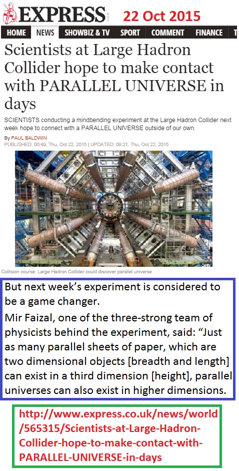 https://www.express.co.uk/news/world/565315/Scientists-at-Large-Hadron-Collider-hope-to-make-contact-with-PARALLEL-UNIVERSE-in-days