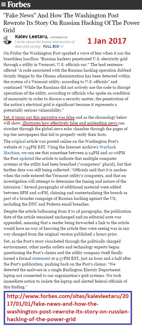 https://www.forbes.com/sites/kalevleetaru/2017/01/01/fake-news-and-how-the-washington-post-rewrote-its-story-on-russian-hacking-of-the-power-grid/