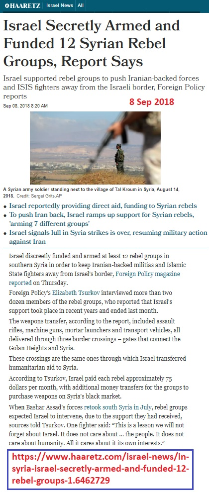 https://www.haaretz.com/middle-east-news/syria/in-syria-israel-secretly-armed-and-funded-12-rebel-groups-1.6462729