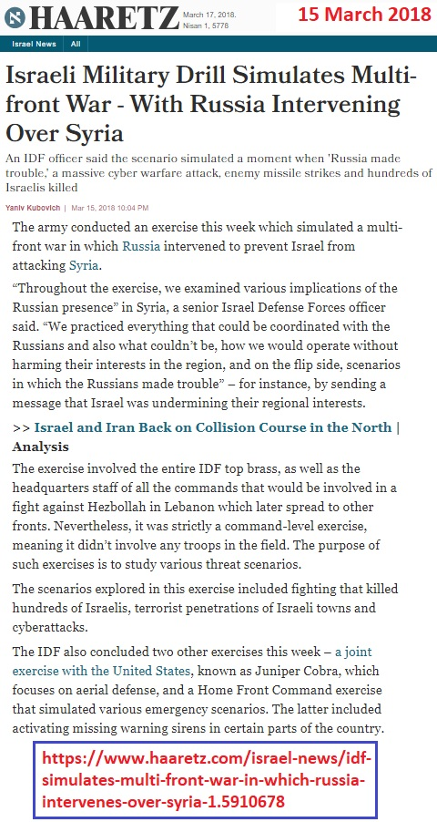 https://www.haaretz.com/israel-news/idf-simulates-multi-front-war-in-which-russia-intervenes-over-syria-1.5910678