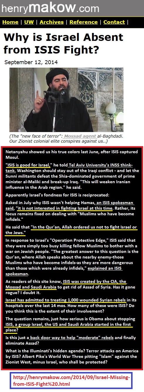 https://www.henrymakow.com/2014/09/Israel-Missing-from-ISIS-Fight%20.html