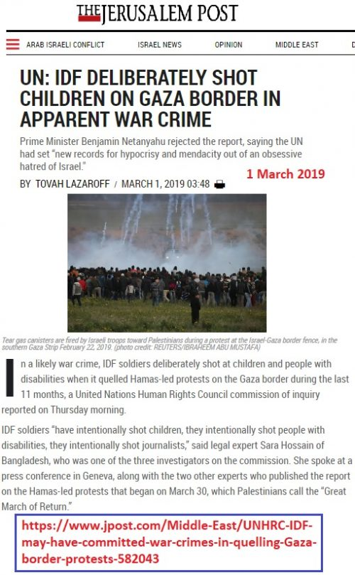 https://www.jpost.com/Middle-East/UNHRC-IDF-may-have-committed-war-crimes-in-quelling-Gaza-border-protests-582043