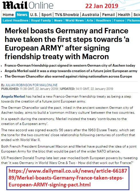 https://www.dailymail.co.uk/news/article-6618789/Merkel-boasts-Germany-France-taken-steps-European-ARMY-signing-pact.html