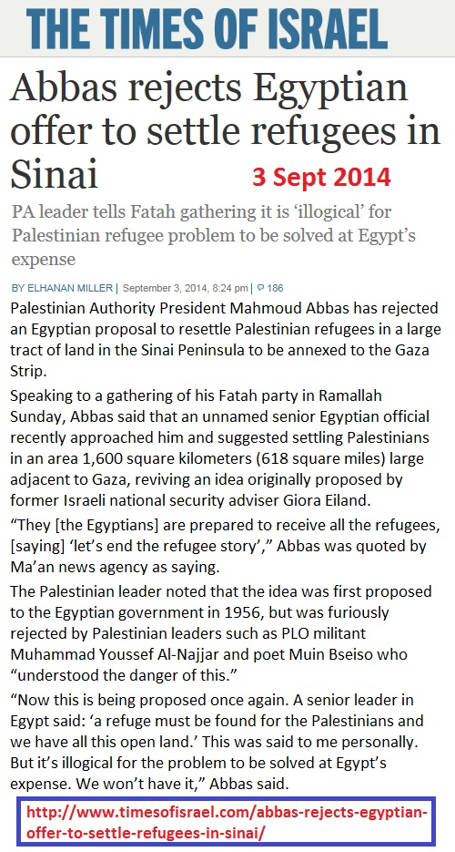 https://www.timesofisrael.com/abbas-rejects-egyptian-offer-to-settle-refugees-in-sinai/